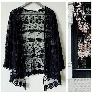 Other - Beautiful Black Lace Cardigan